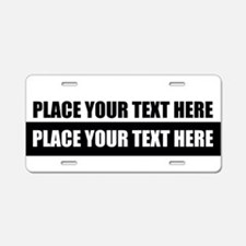 Text message Customized Aluminum License Plate