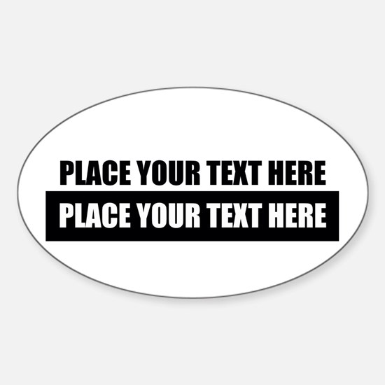 Text message Customized Bumper Stickers