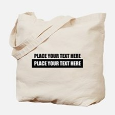 Text message Customized Tote Bag