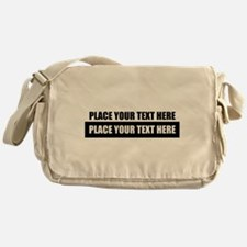 Text message Customized Messenger Bag
