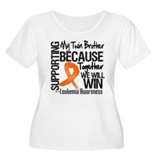 Support Twin Brother Leukemia T-Shirt
