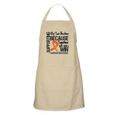 Support Twin Brother Leukemia Apron