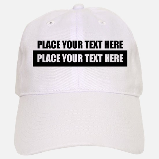 Text message Customized Baseball Cap