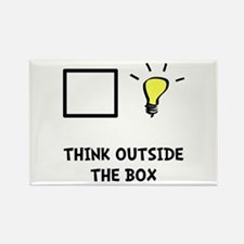 Think Outside The Box Rectangle Magnet (10 pack)