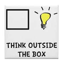 Think Outside The Box Tile Coaster