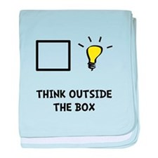Think Outside The Box baby blanket