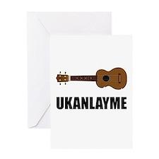 Ukanlayme Ukulele Greeting Card