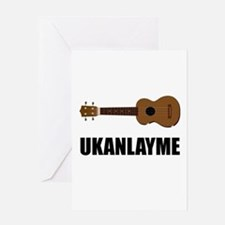 Ukanlayme Ukulele Greeting Card