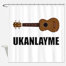 Ukanlayme Ukulele Shower Curtain