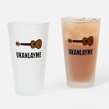Ukanlayme Ukulele Drinking Glass