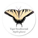 Tiger Swallowtail Round Car Magnet