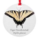 Tiger Swallowtail Round Ornament