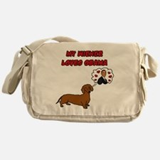 My Wiener Loves Obama Messenger Bag
