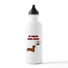My Wiener Loves Obama Water Bottle