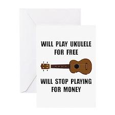 Ukulele Playing Greeting Card