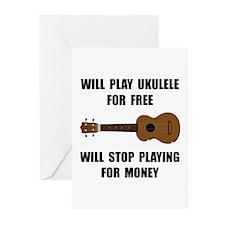 Ukulele Playing Greeting Cards (Pk of 10)