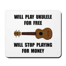 Ukulele Playing Mousepad