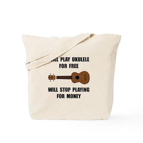 Ukulele Playing Tote Bag