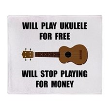 Ukulele Playing Throw Blanket