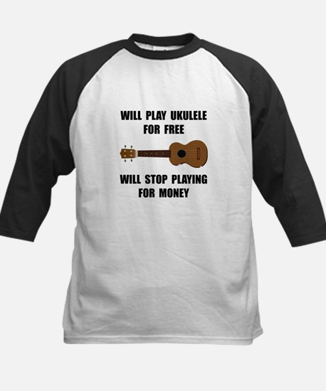 Ukulele Playing Kids Baseball Jersey
