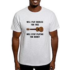 Ukulele Playing T-Shirt
