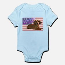 Flag Dachshund Infant Bodysuit