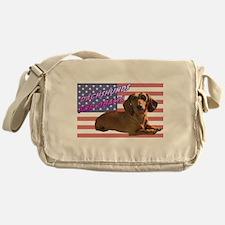Flag Dachshund Messenger Bag