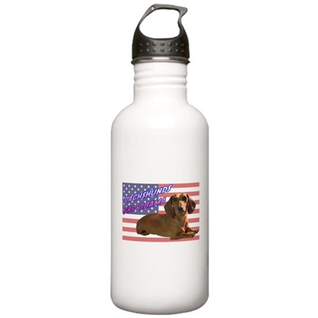 Flag Dachshund Stainless Water Bottle 1.0L