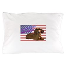 Flag Dachshund Pillow Case