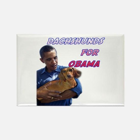Obama Holding Dachshund Rectangle Magnet (10 pack)