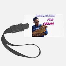 Obama Holding Dachshund Luggage Tag