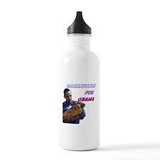 Obama Holding Dachshund Water Bottle