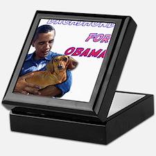 Obama Holding Dachshund Keepsake Box
