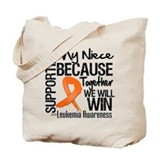 Support Niece Leukemia Tote Bag