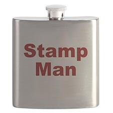 Stamp Man Flask