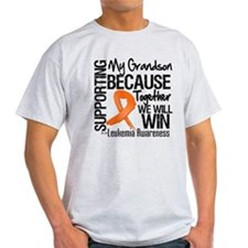 Support Grandson Leukemia T-Shirt