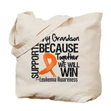 Support Grandson Leukemia Tote Bag