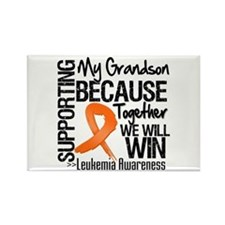 Support Grandson Leukemia Rectangle Magnet