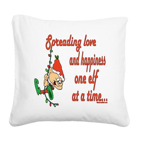 SpreadinLoveelf copy.png Square Canvas Pillow