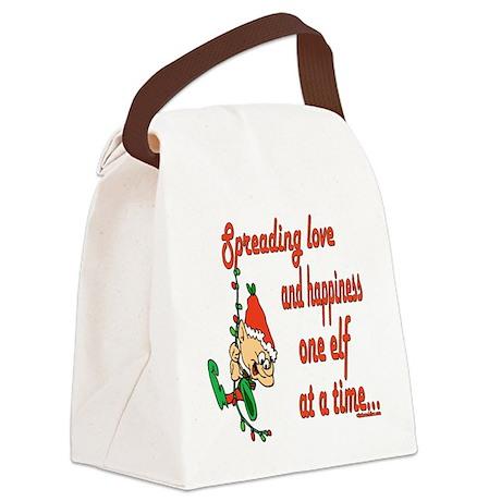 SpreadinLoveelf copy.png Canvas Lunch Bag