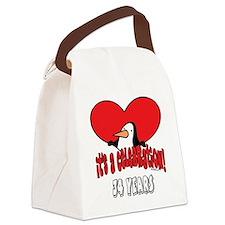 PenguinCel34.png Canvas Lunch Bag
