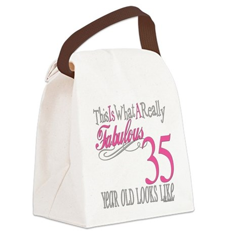 Fabulous 35yearold.png Canvas Lunch Bag