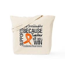 Granddaughter Leukemia Tote Bag