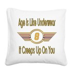 BirthdayUnderwear8.png Square Canvas Pillow