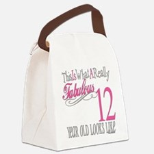 Fabulous 12yearold.png Canvas Lunch Bag