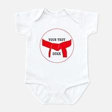 Custom Martial Arts Red Belt Infant Bodysuit