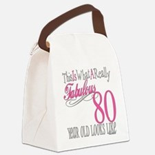 Fabulous 80yearold.png Canvas Lunch Bag