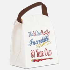 Incredibleat80.png Canvas Lunch Bag
