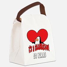 PenguinCel50.png Canvas Lunch Bag