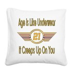 BirthdayUnderwear21.png Square Canvas Pillow